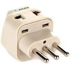 amazon com ceptics italy travel plug adapter type l 3 pack