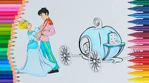 cinderella prince charming coloring learn colors