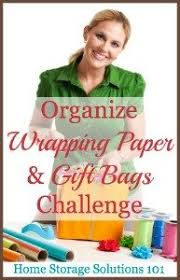 Organize Gift Wrap - how to organize wrapping paper u0026 gift bags