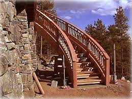 exterior curved stairs and curved handral loeffler stair company