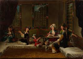 Ottoman Harem by File The Vanmour School Women Embroidering Google Art Project