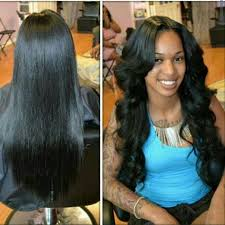 black hair sew ins hairstyle ideas