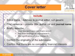 cover letter to editor of journal example cover letters with