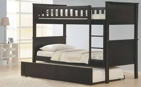 Over Twin Espresso Bunk Bed Solid Wood Twin Trundle - Solid wood bunk bed