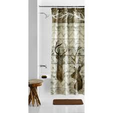 curtains mainstays horns fabric shower curtain walmart