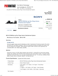 download free pdf for sony bdv e770w home theater manual
