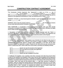 create a free construction contract agreement legal templates