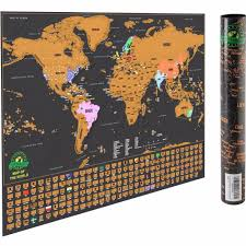 World Map Country Flags Travel Scratch Map World Map Poster With Us States And Country