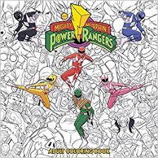 mighty morphin power rangers coloring book amazon uk hendry