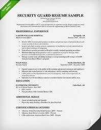 Entry Level Security Guard Resume Sample by Good Resume Examples Http Www Jobresume Website Good Resume