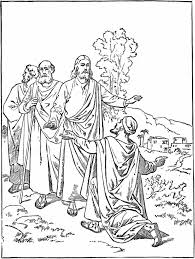 Jesus Healed The Blind Man Miracles Of Jesus Coloring Pages