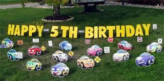 Birthday Lawn Decorations Birthday Yard Greetings Themes To Rent