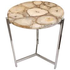 Tripod Side Table with Viyet Designer Furniture Tables Modern Natural Onyx And