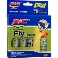 fly ribbon pic fr10b fly ribbon bug insect catcher 10 pk walmart