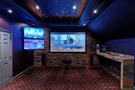 Media Room With Starlit Ceiling Traditional Home Theater - Home theater design dallas