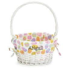 personalized basket personalized kids easter basket white willow egg liner gifts