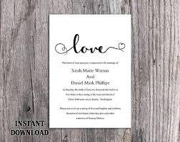 Diy Wedding Invitations Templates Black And White Wedding Invitation Templates Paperinvite