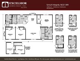 schult floor plans schult integrity 5632 309 excelsior homes west inc