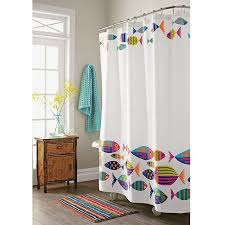 Fish Curtains Calypso Fish Shower Curtain The Company Store