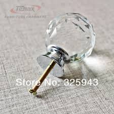 Knobs And Handles For Bedroom Furniture 2x40mm Clear Round Glass Cabinet Drawer Crystal Knobs And Handles