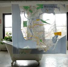 City Map Glasses Map Series Shower Curtains Nyc Subway Gessato