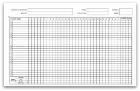 Weekly Attendance Sheet Template Printable Attendance Calendars
