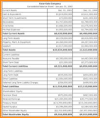 Consolidated Balance Sheet Template 10 Exle Of A Balance Sheet Model Resumed