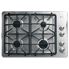 Sealed Burner Gas Cooktop Shop Ge Profile Gas Cooktop Stainless Steel Common 30 In