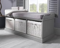 Hallway Bench Storage by Tetbury Bench With 3 Storage Baskets Sturdy Hallway Bench With