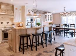 traditional kitchen with added storage open layout neutral