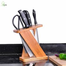 compare prices on kitchen knives block online shopping buy low yi hong creative z shape natural bamboo knife block multi purpose scissors sharpener kitchen