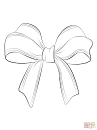 christmas bow coloring free printable coloring pages