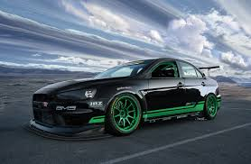green mitsubishi lancer so y u0027all have seen the 311rs black with blue livery what you