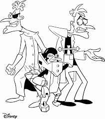 69 phineas and ferb coloring pages phineas and ferb