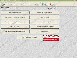 toyota industrial equipment v1 92 electronic parts catalog parts book