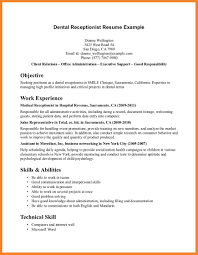Sample Cover Letters For Receptionist Receptionist Sample Resume Resume For Your Job Application