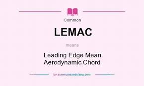 aerodynamic chord lemac leading edge mean aerodynamic chord in common by