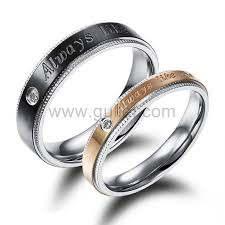 personalized wedding bands engraved black and gold wedding bands for men and women
