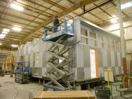 prefab construction nearly completed preparations for shipping