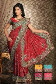 Reception Sarees For Indian Weddings Red U0026 Yellow Two Auspicious Colours For An Indian Wedding