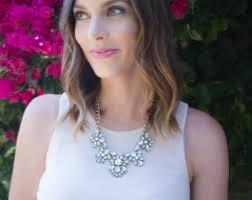 bridesmaid statement necklaces jcrew jewelry etsy