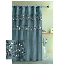 Aqua Blue Shower Curtains Blue Rug On White Tile Floor Hookless Fabric Shower Curtain Brown