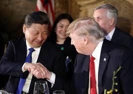 trump chinese president xi jinping begin very frank talks in