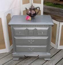 furniture silver nightstand small mirrored nightstand