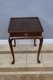 queen anne end tables queen anne mahogany top lip occasional end table drawer aston