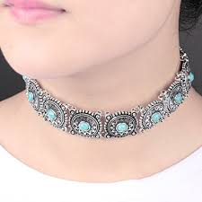 girls choker necklace images Choker for girls boho turquoise choker necklace necklace necklace jpg