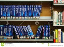 Library Shelves Full Of Travel Books Editorial Stock Photo Image