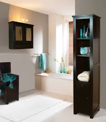 Bathroom Floor Storage Cabinet Apartments Elegant Bathroom Design Ideas With Dark Wood Bathroom