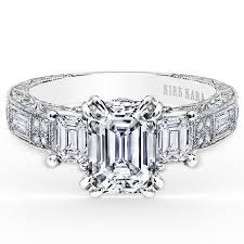white emerald rings images Kirk kara charlotte emerald cut three stone diamond engagement ring jpg