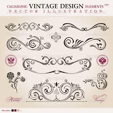 calligraphic design elements ornament decoration retro vector by